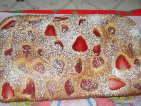 Снимка 1 от рецепта за Кекс, покрит с ягоди