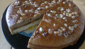 Снимка 1 от рецепта за Двойно печен двуцветен сладкиш със сладко
