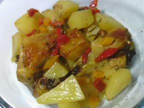 Снимка 1 от рецепта за Бутчета с картофи, вино и розмарин