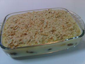 Снимка 1 от рецепта за Бисквитена торта с крем и конфитюр