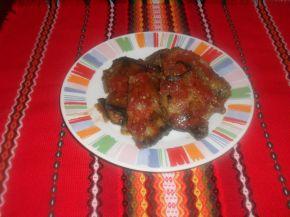 Снимка 1 от рецепта за Рулца от патладжан с домати и пиле