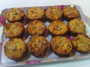 Снимка 1 от рецепта за Мъфини с шунка и стар хляб