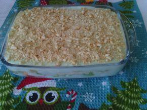 Снимка 1 от рецепта за Бисквитена торта с киви и нишесте