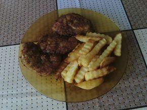 Снимка 1 от рецепта за Шницели с къдрави картофи