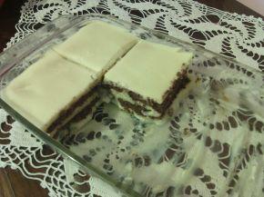 Снимка 1 от рецепта за Торта с бял шоколад, какаови бисквити и ванилов крем