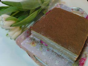 Снимка 1 от рецепта за Торта с праскови, стафиди и какао
