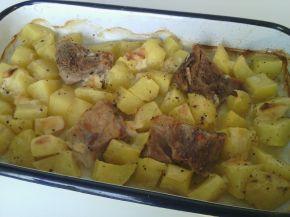 Снимка 1 от рецепта за Патешко с картофи, топено сирене и  масло