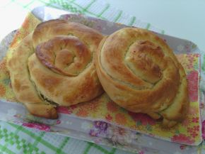 Снимка 1 от рецепта за Вити охлюви с маргарин, белтък и сирене