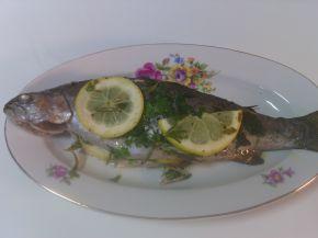 Снимка 1 от рецепта за Дъгова пъстърва с магданоз и розмарин