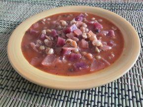 Снимка 1 от рецепта за Яхния от грах и червено цвекло