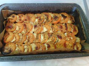 Снимка 1 от рецепта за Сладки картофи с козе сирене