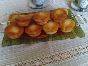 Снимка 1 от рецепта за Ванилови мъфини с круши и натрошени бадеми