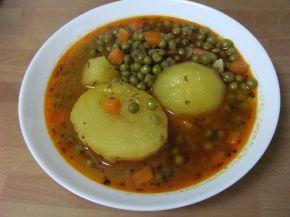Снимка 1 от рецепта за Яхния грах с картофи