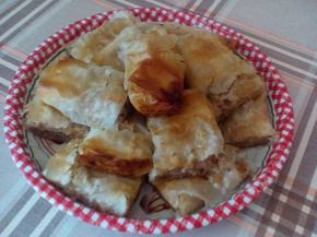 Снимка 1 от рецепта за Щрудел с ябълки, златни стафиди и орехи