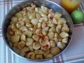 Снимка 1 от рецепта за Печени ябълки на парченца
