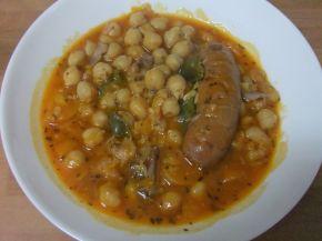 Снимка 1 от рецепта за Нахут с испанско чорисо и кокали