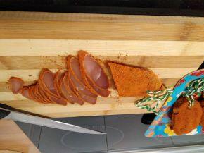 Снимка 1 от рецепта за Сухо пуешко филе за мезе