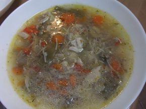 Снимка 1 от рецепта за Зеленчукова супа с обезкостено пилешко месо