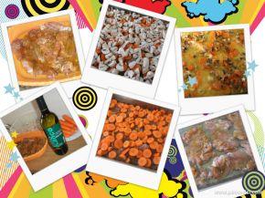 Снимка 1 от рецепта за Пилешки филета с моркови и гъби
