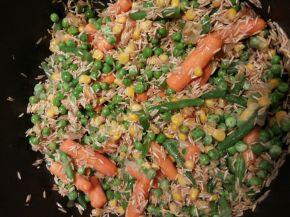 Снимка 5 от рецепта за Пържен ориз със зеленчуци