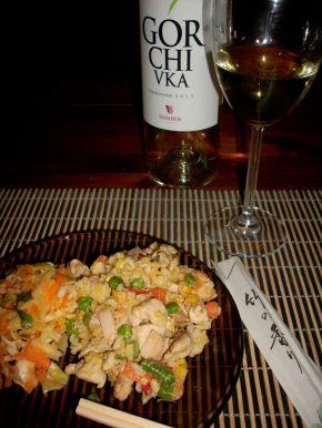 Снимка 7 от рецепта за Пържен ориз със зеленчуци