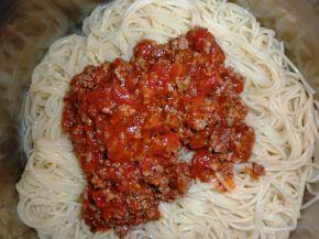 Снимка 2 от рецепта за Спагети ала `Болонезе`
