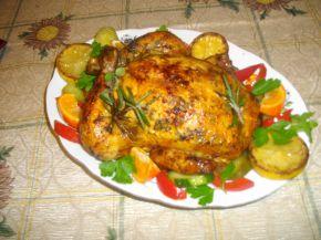 Снимка 2 от рецепта за Ароматно пиле с кайма