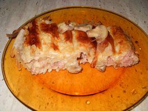 Снимка 5 от рецепта за Баница с кайма, гъби и сос Бешамел