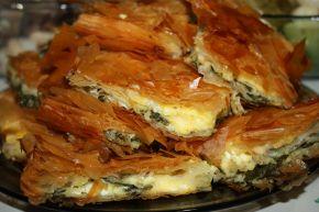 Снимка 2 от рецепта за Баница със сирене и спанак