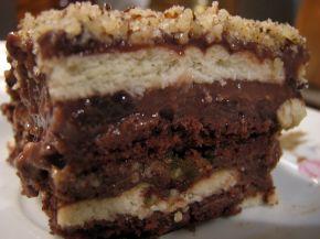 Снимка 4 от рецепта за Бисквитена торта с крем пудинг