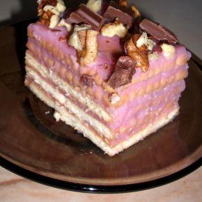 Снимка 5 от рецепта за Бисквитена торта с ягодов нюанс