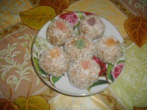 Снимка 2 от рецепта за Бисквитени топчета без печене