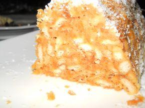 Снимка 5 от рецепта за Бисквитено руло с моркови и стафиди