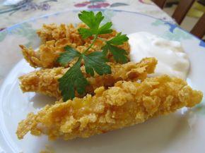 Снимка 1 от рецепта за Бързи пилешки хапки с корнфлейкс