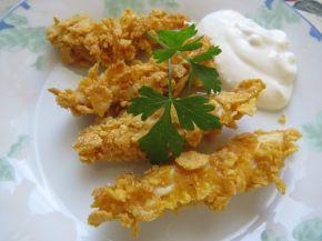 Снимка 4 от рецепта за Бързи пилешки хапки с корнфлейкс