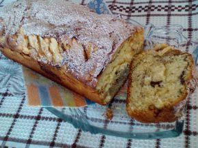 Снимка 5 от рецепта за Кейк с ябълки и кафено-канелена шарка