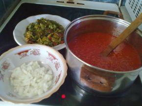 Снимка 2 от рецепта за Чушчена манджа