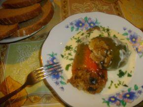Снимка 2 от рецепта за Чушки пълни с ориз и гъби и сарми