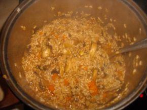 Снимка 3 от рецепта за Чушки пълни с ориз и гъби и сарми
