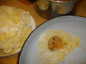 Снимка 6 от рецепта за Чушки пълни с ориз и гъби и сарми