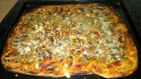 Снимка 4 от рецепта за Домашна пица - III вариант