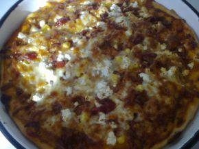 Снимка 8 от рецепта за Домашна пица с богата плънка