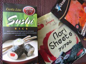 Снимка 2 от рецепта за Домашно суши със сьомга