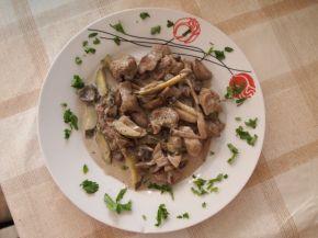 Снимка 2 от рецепта за Дробчета със сметана