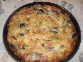 Снимка 2 от рецепта за Фритата с картофи, филе, маслини и гъби
