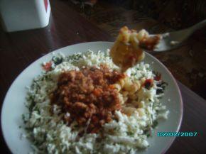 Снимка 2 от рецепта за Фусили с кайма и сирене