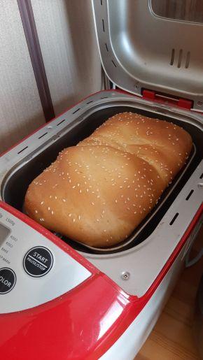 Снимка 4 от рецепта за Хляб за хлебопекарна машина