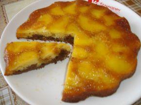 Снимка 5 от рецепта за Ябълков сладкиш с карамел
