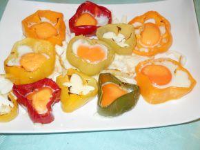 Снимка 4 от рецепта за Яйца на очи в гнездо от чушки
