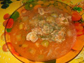 Снимка 2 от рецепта за Ястие с пилешко месо, гъби и праз